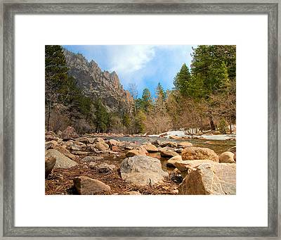 South Boulder Creek - Eldorado Canyon State Park Framed Print
