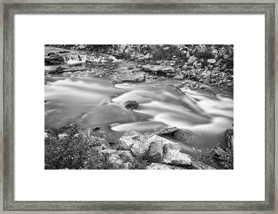 South Boulder Creek Little Waterfalls Rollinsville Bw Framed Print by James BO  Insogna