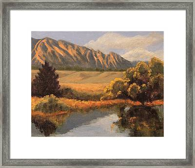 South Boulder Creek Framed Print