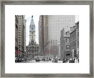 South Broad From Locust Street Framed Print
