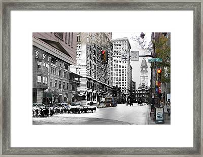 South Broad Street Sheep Framed Print