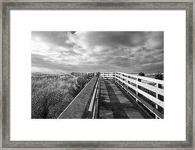 South Cape Beach Boardwalk Framed Print by Brooke T Ryan