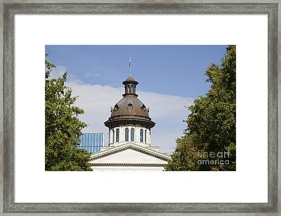 South Caroilna Capital Building Detail Framed Print