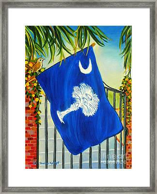 South Carolina - A State Of Art Framed Print