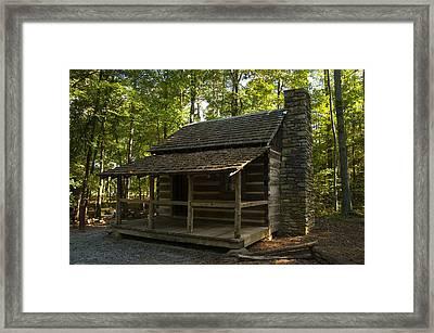 South Carolina Log Cabin Framed Print by Chris Flees