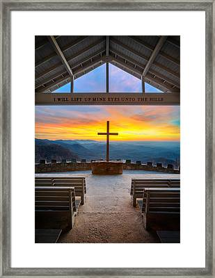 South Carolina Pretty Place Chapel Sunrise Embraced Framed Print by Dave Allen