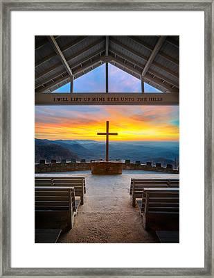 South Carolina Pretty Place Chapel Sunrise Embraced Framed Print