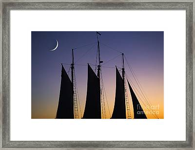 South Carolina Schooner Sunset Framed Print by Dustin K Ryan