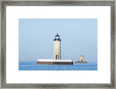 South Channel Lights Framed Print