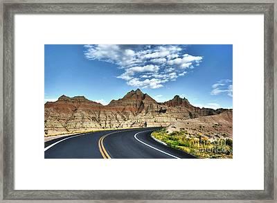 South Dakota Badlands Framed Print by Mel Steinhauer