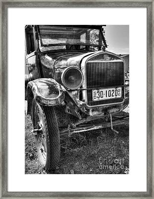 South Dakota Classic Bw Framed Print by Mel Steinhauer