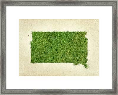 South Dakota Grass Map Framed Print