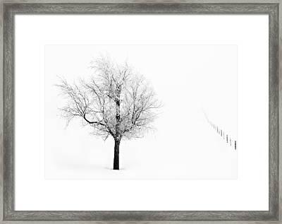 South Dakota Winter Framed Print