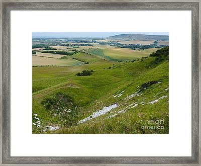 South Downs - Sussex - England Framed Print by Phil Banks
