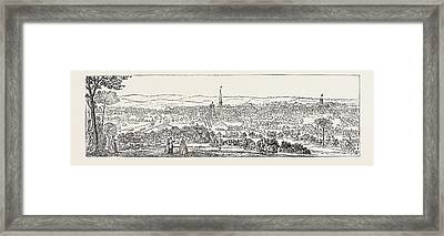 South East Prospect Of Leeds Framed Print by English School