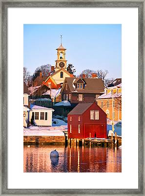 South End Boathouse Framed Print by Eric Gendron