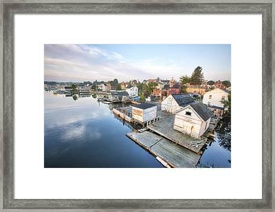 South End Docks Framed Print