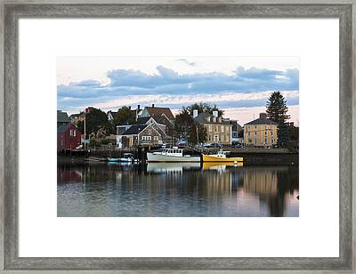 South End Morning Framed Print