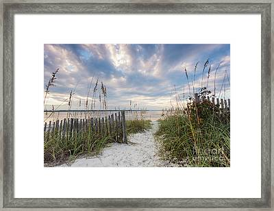 South End Sojourn Amelia Island Florida Framed Print by Dawna  Moore Photography