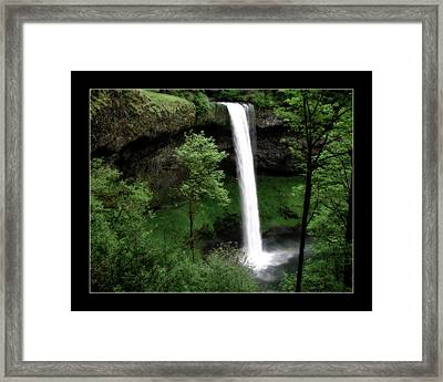 South Falls Framed Print by Bonnie Bruno