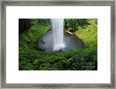 South Falls Oregon Framed Print by Bob Christopher