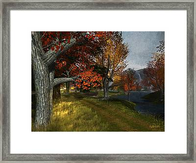 South Farthing Lane Framed Print by Kylie Sabra