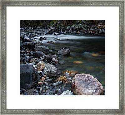South Fork American River Framed Print by Mitch Shindelbower