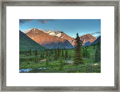 South Fork Near Eagle River At Sunset Framed Print