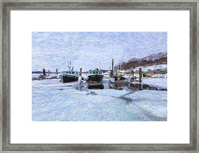 South Freeport Harbor II Framed Print by Tom Singleton