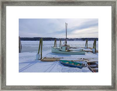 South Freeport Harbor Framed Print by Tom Singleton