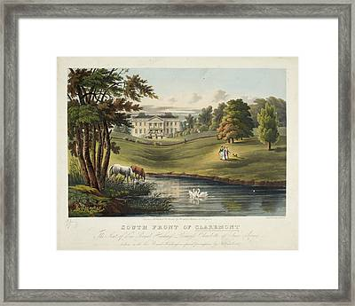 South Front Of Claremont Framed Print by British Library