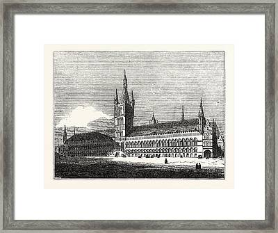 South Front Of The Town Hall Of Ypres Framed Print