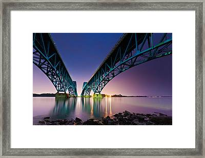 South Grand Island Bridge Framed Print