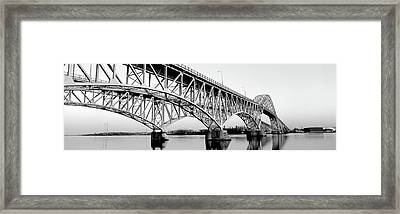 South Grand Island Bridges New York Usa Framed Print by Panoramic Images
