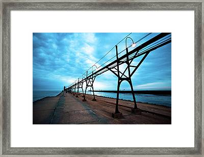 South Haven Lighthouse Framed Print by Sebastian Musial