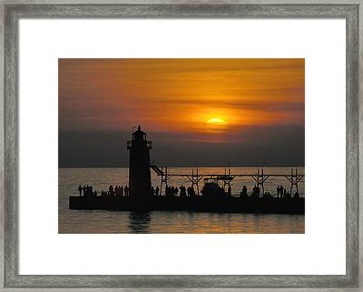 South Haven Lighthouse Framed Print