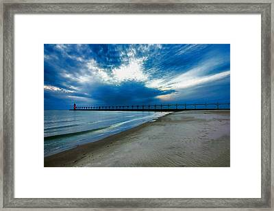 South Haven Pier Framed Print