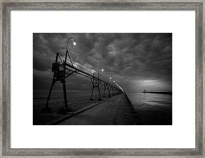 South Haven Pier Framed Print