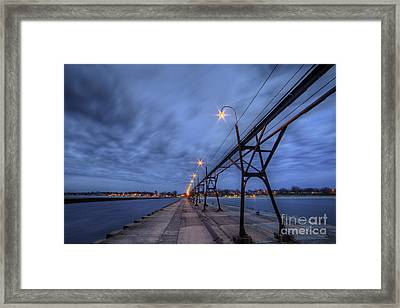 South Haven Pier Framed Print by Twenty Two North Photography