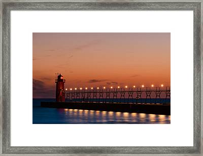 South Haven Reflection Framed Print by Sebastian Musial