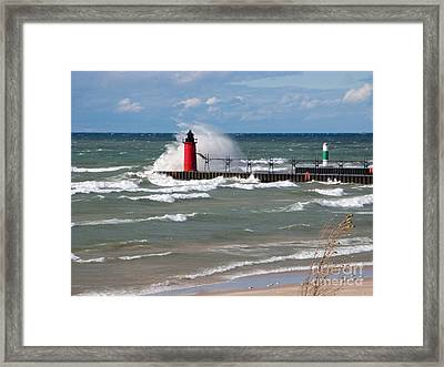 South Haven Splash Framed Print