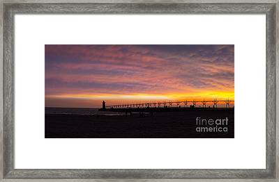 South Haven Sunset Framed Print by Twenty Two North Photography