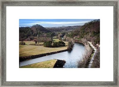 South Holston Dam View Framed Print by Karen Wiles