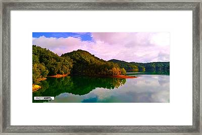 North Holston Lake Mountains Framed Print