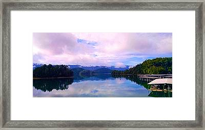 South Holston Lake Tn Framed Print