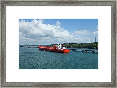 South Hook Lng Terminal, Milford Haven Framed Print by Panoramic Images