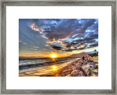 South Kihei Sunset Framed Print