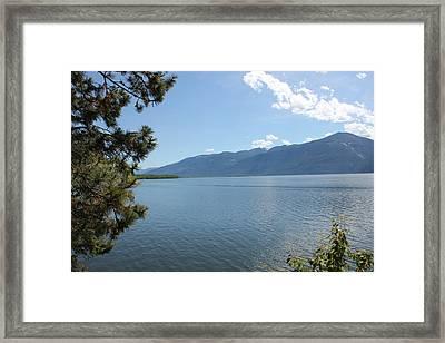 South Kootenay Lake Mountains Framed Print by Mavis Reid Nugent