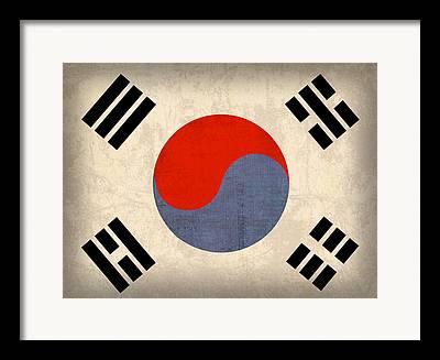 Korean Mixed Media Framed Prints