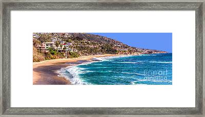 South Laguna Beach Coast Framed Print